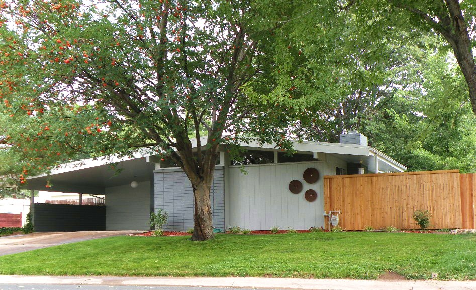 Midcentury modern home for sale in littleton for 2000 sq ft to yards